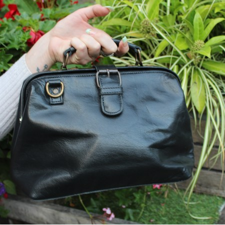 Doctor Bag Small Black Leather