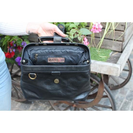 Minidoc Doctor Bag Small Black Leather