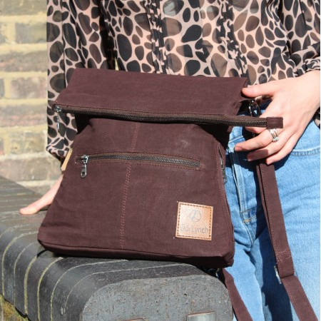 Backpack Cotton Burgundy Vegan
