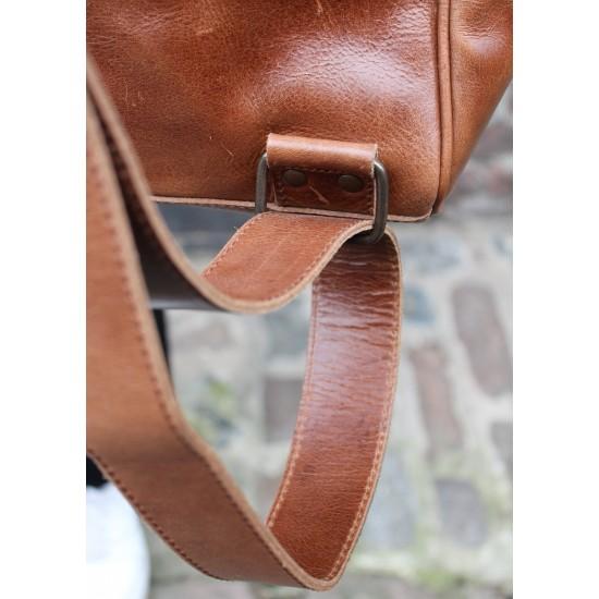 Doctor Large Convertible Rucksack Tan Leather