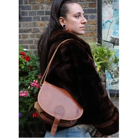 Small Isabelle Saddle Bag Tan