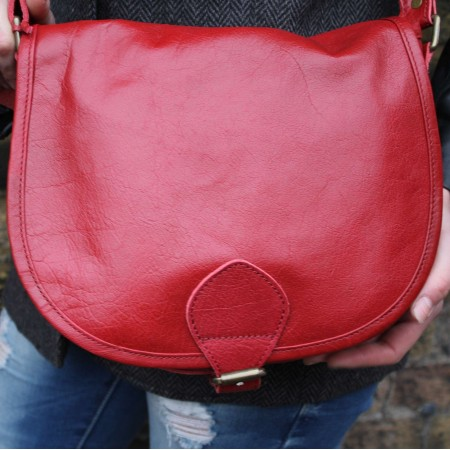 Isabelle Saddle Bag Red Leather Medium