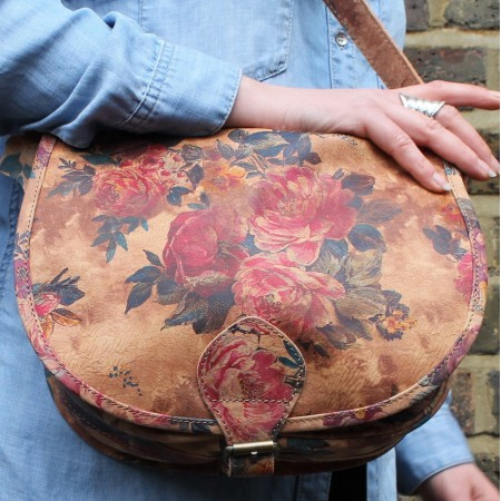 Isabelle Saddle Bag Medium Floral