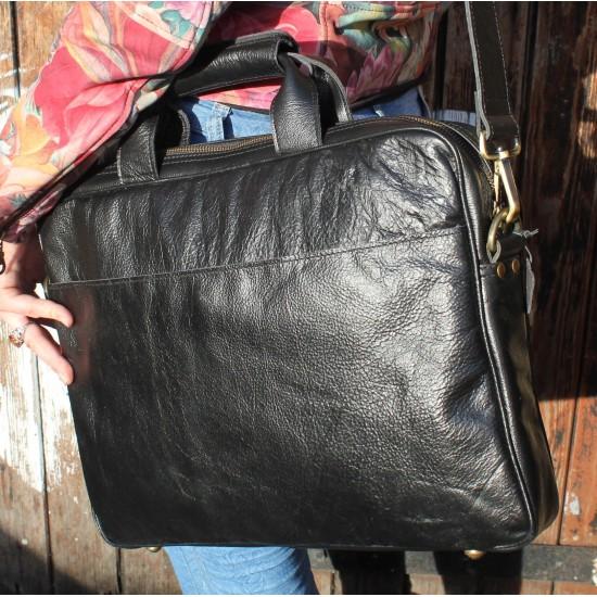 Berlin Laptop Bag Briefcase Black