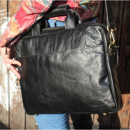 Berlin Laptop Bag Briefcase Black