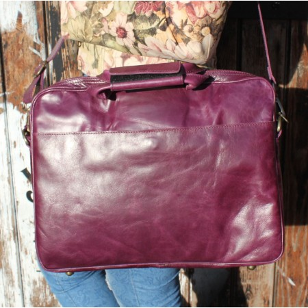 Berlin Laptop Bag Briefcase Purple
