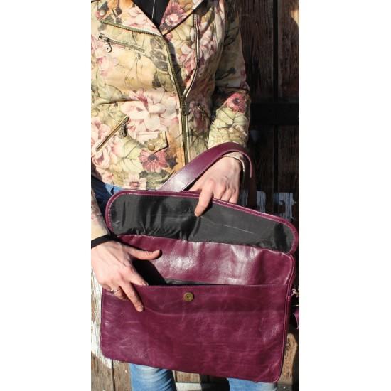 Berlin Laptop Bag Briefcase Purple
