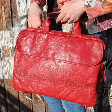 Berlin Laptop Bag Briefcase Red