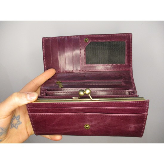 Large Clipclasp Wallet Purple