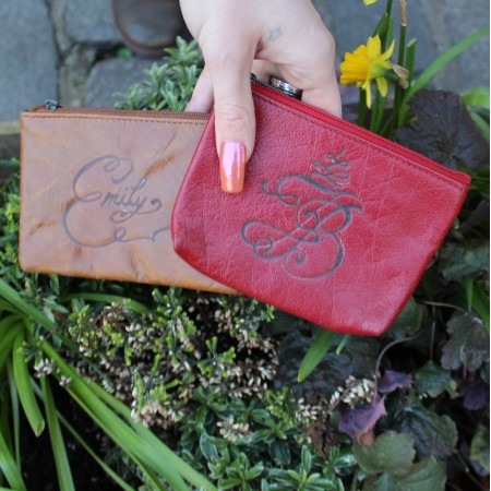 Purse with Card Spaces inside Red