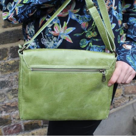 Louisa Satchel Apple Green Messenger Bag