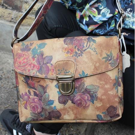Louisa Floral 14 Messenger Bag