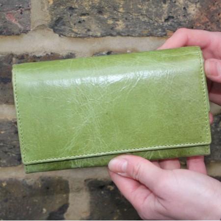 Madamzel Apple Green Leather Wallet