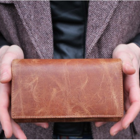 Madamzel Tan Leather Wallet