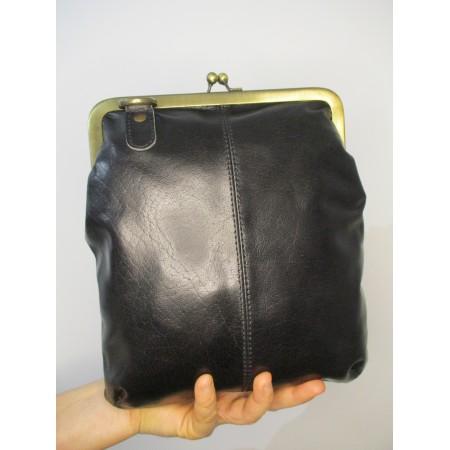 Malaga Small Cliplock Handbag Black