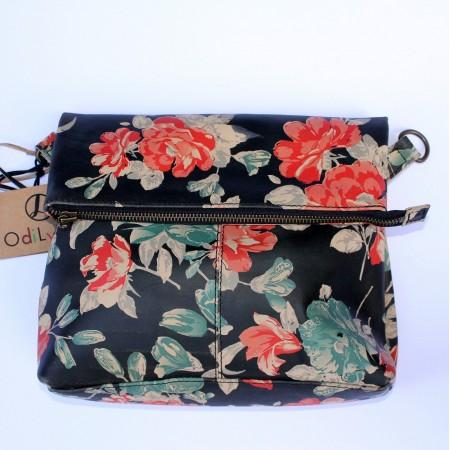 Mini Amelie Foldover Spanish Floral Leather Bag