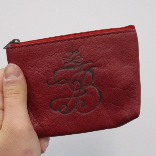 Personalised Leather Gift Little Tan Purse with Card holder