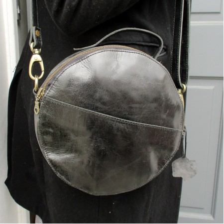 Rupert Large Black Circular Bag