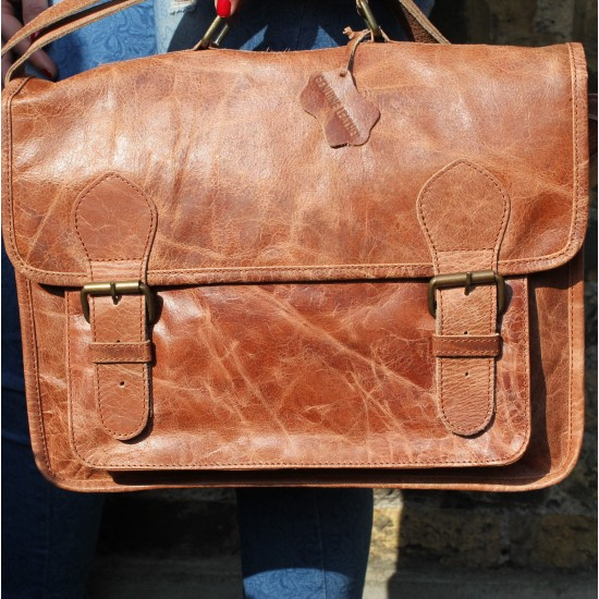 Satchel Tan Scrunchy
