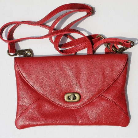 Sligo Clutch Twisterlock Red Leather