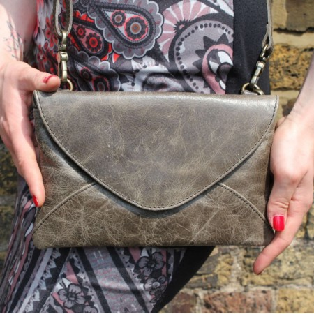 Sligo Clutchbag Charcoal Leather