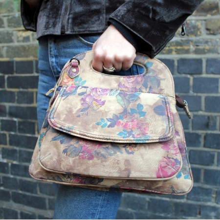Trinity Floral Print No 21 Leather Bag