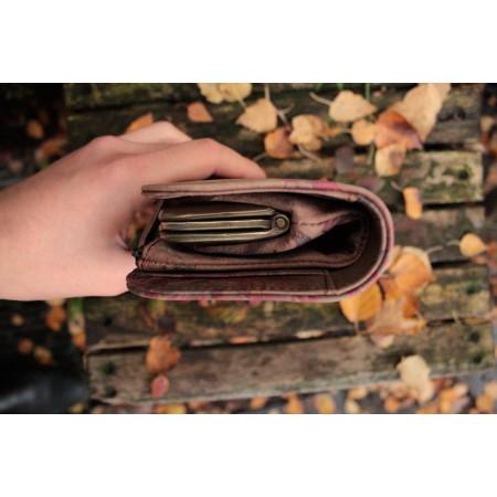 Big Fat Ex Large Wallet Dark Floral Leather