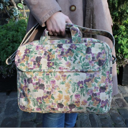 Berlin Laptop Bag Briefcase In Autumn Floral Leather