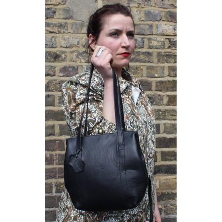 Dolly Black Frame Shoulder Bag Leather