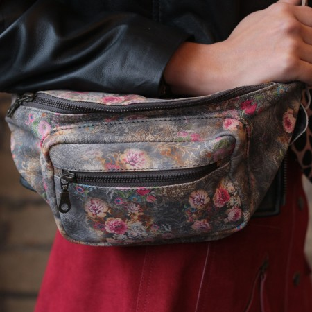 Double Bumbag N21 Grey Leather