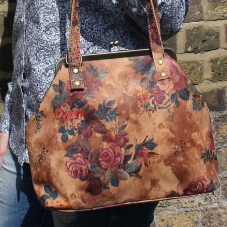 Maya Medium Floral Leather Clip Bag