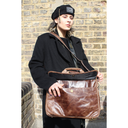 Laptop Bag Berlin In Brown Leather