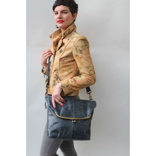 Dublin Large Foldover Clipframe Bag