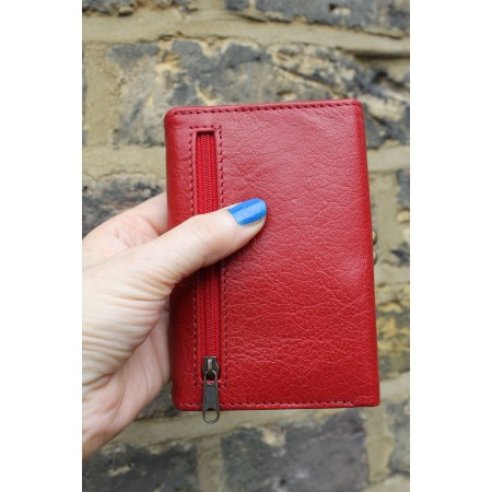 Small Evanna Clip Wallet Red Leather
