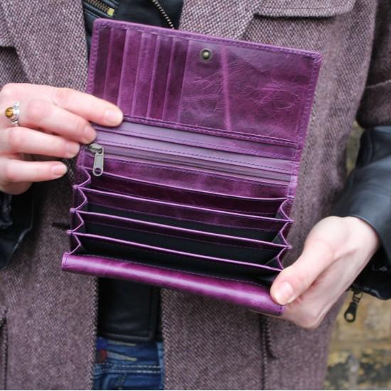 Madamzel Purple Leather Wallet