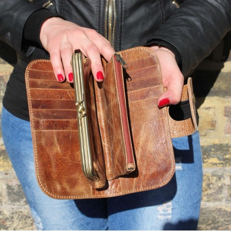Big Fat Extra Large Wallet Tan Leather