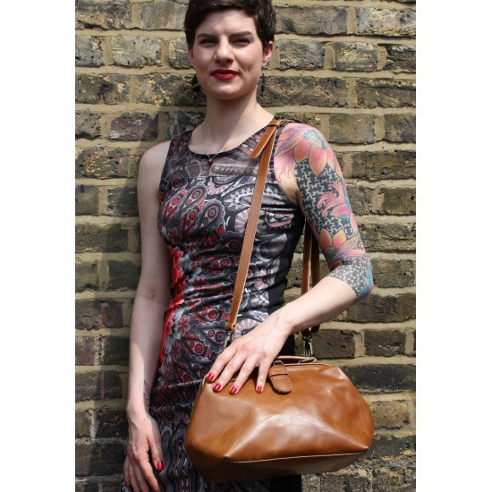 Minidoc Doctor Bag Smooth Tan Leather