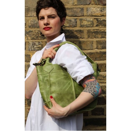 Bach Small Totebag Apple Green Leather