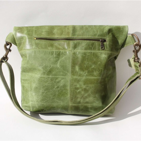 Dublin clip large bag - apple green