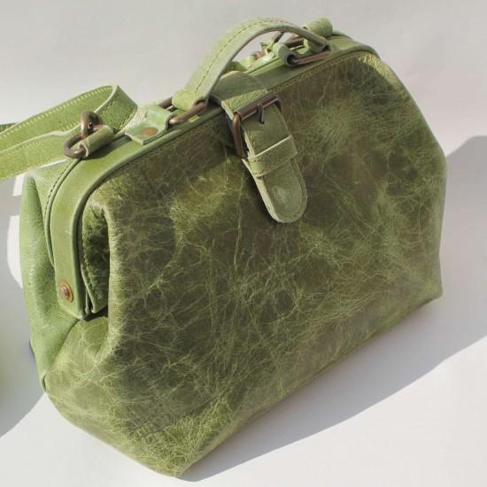 Minidoc Doctor Bag Small Apple Green Leather