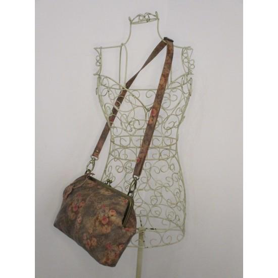 Athina Floral No 21 Clasp Frame Handbag