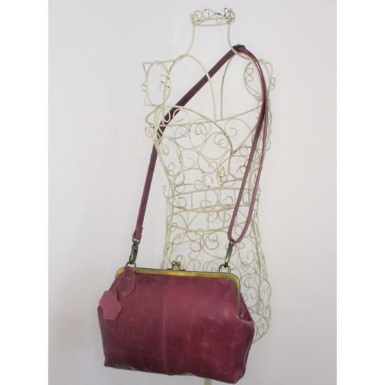 Athina Purple Clip Frame Handbag