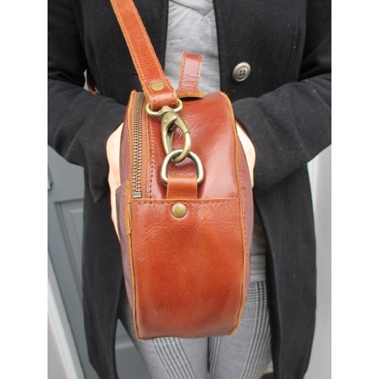 Rupert Large Tan Circular Bag