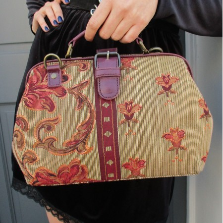 Doctor Bag Tapestry and Leather