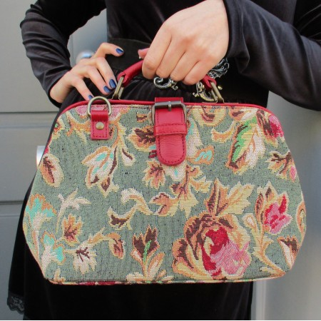 Minidoc Doctor Bag Tapestry and Leather Laura Rose