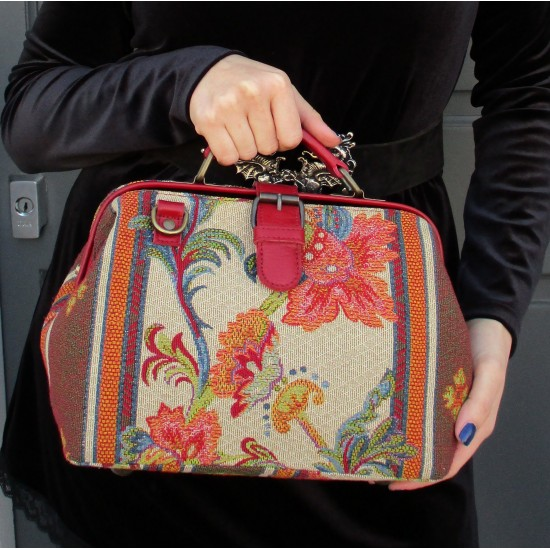 Minidoc Doctor Bag Tapestry and Leather Country House