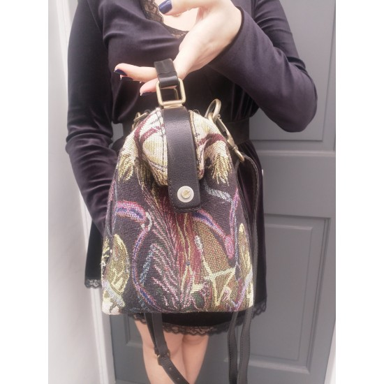 Minidoc Doctor Bag Bloomingdale Tapestry and Leather