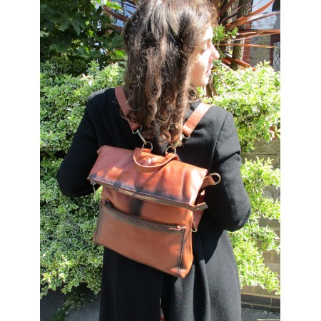 Amelie Backpack Two Tone Convertible