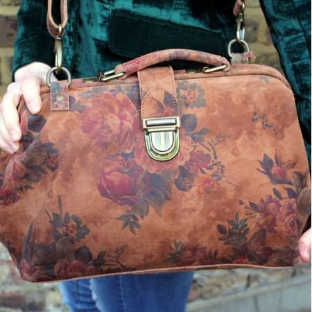 Doctor Bag 01 Floral 14 Suede