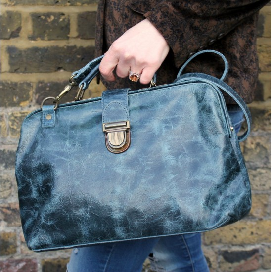Doctor Bag 01 Navy Leather